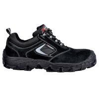 Cofra Suez Black Suede Leather Laced Shoe, S1P, SRC