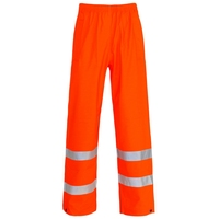 Supertouch Hi-Visibility Storm-Flex Trousers - Ankle Band, Orange