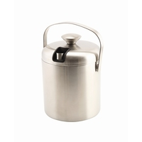 Ice Bucket Insulated With Tongs Stainless Steel 1.2Litre