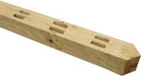 2.1m UC4 Morticed Post 125x100mm 3 Rail