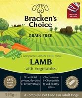 Bracken's Choice GRAIN FREE Dog Trays - Lamb & Veg 395g x 10