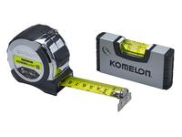 Komelon 5m (16ft) Tape with Mini-Level