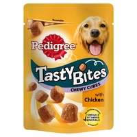 Pedigree Tasty Bites - Chewy Cubes with Chicken 130g x 8