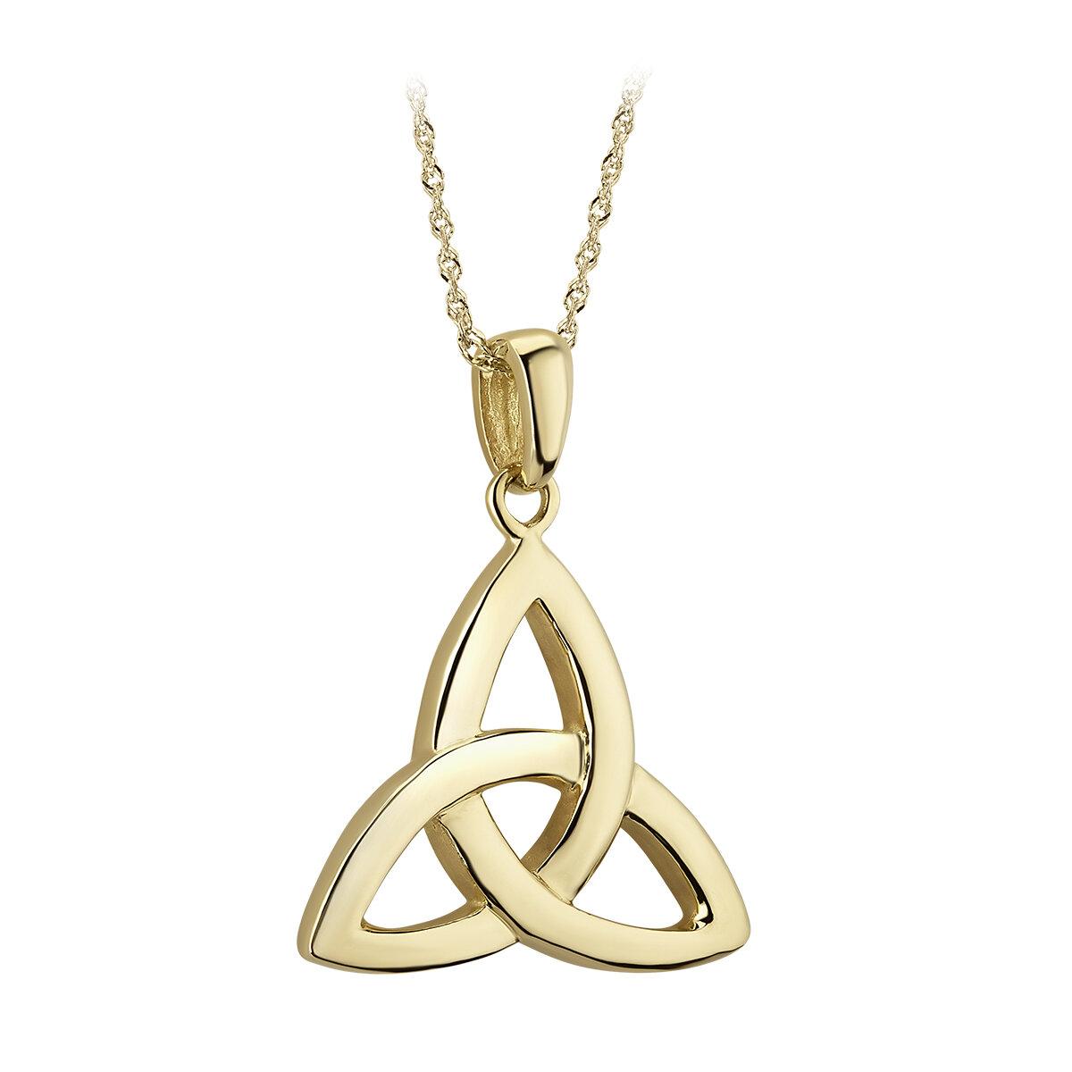 14k gold large trinity knot pendant s44176 from Solvar