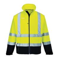 Portwest Hi-Visibility Contrast Softshell Hi-Vis Yellow/Navy