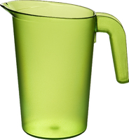 1 Litre Jug Trans Lime - (Takes 116In Lid)