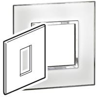 Arteor (British Standard) 1 Gang 1 Module Square Mirror White | LV0501.0166