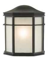 Dulbecco Wall Light IP44, Black And Acrylic  | LV1802.0158
