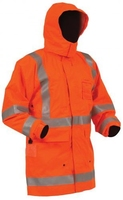 Bison Rigour Hi Vis TTMC-W Fire Retardant Fleece Lined Jacket