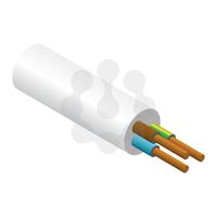 3x2.5mm PVC Flex White