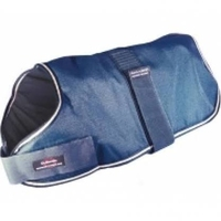 "Outhwaite Dog Coat Padded Lining Navy 30"" x 1"