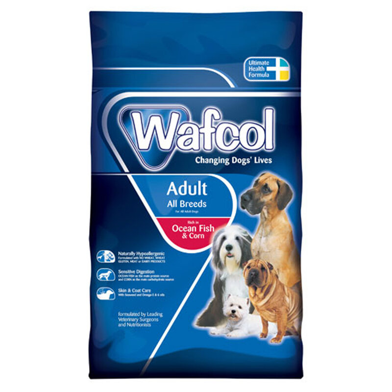 Wafcol Ocean Fish & Corn Dog Food 12kg