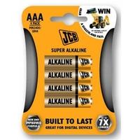 JCB Super Alkaline Batteries Size AAA 4 Pack