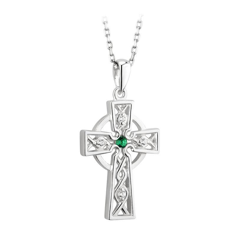 Jewel Tie Sterling Silver Cross Pendant 1.14 in x 0.63 in