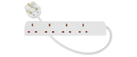 2.0m 4 Gang  Extension LEAD White
