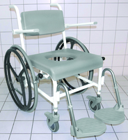 Stainless Steel Height Adjustable Shower/Commode Chair