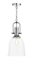 Nolan 1 Light Pendant, Polished Chrome/ Clear | LV1802.0080