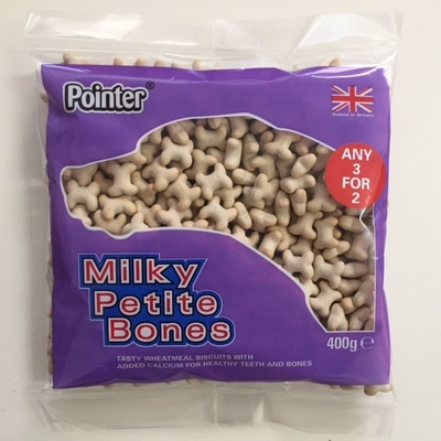 Pointer Milky Petite Bones 400g x 6