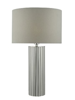 Cassandra Table Lamp, Polished Chrome with Shade | LV1802.0118