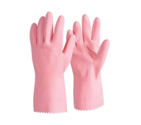 RUBBER GLOVES PINK Med