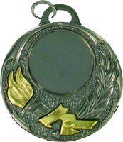 50mm Silver Medal with Relief Victory Torch