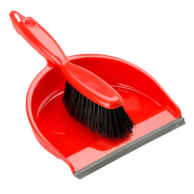Hand Dust Pan Set, Red