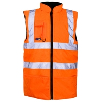 Supertouch Reversible Fleece Lined Bodywarmer, Orange