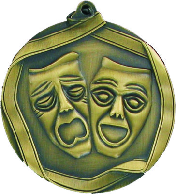 60mm Drama Medallion (Antique Gold)