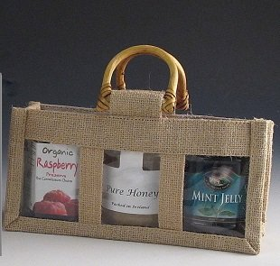 3 Window Small Jute Bag. (Pack Of 10)