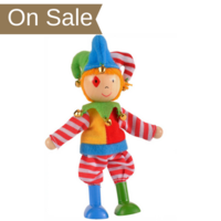 Wooden Play Figure - Jester