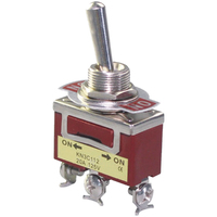 Switch| Toggle Switch 3 Ways 6 Pins DPDT On-Off-On 15A 125V
