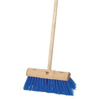 Blue Poly Scavenger Broom 13''