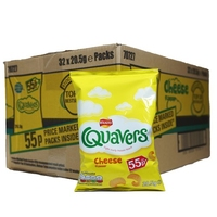 Walkers Quavers Crisps 32x20.5g