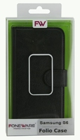 FOLIO1286 Samsung S6 Black Folio