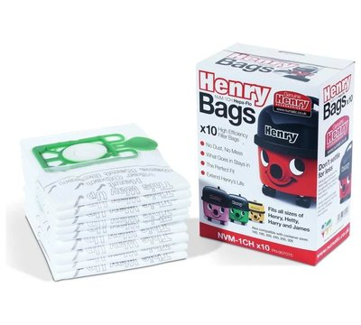 Genuine Numatic Henry Bags 10 Pack Nvm-1Ch Rebranded Box