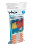 Beldray 24pk Soft Grip Clothes Pegs Turquoise