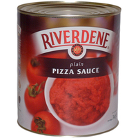 Tin Pizza Sauce (Plain)-Riverdene-(6xA10 Tin)