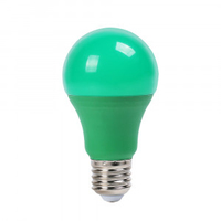 9W A60 LED Green Plastic Bulb E27