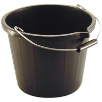 3 GALLON BLACK POUR AND SCOOP BUCKET
