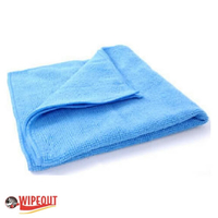blue microfiber cloths
