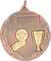 50mm Soccer Medallion (Antique Bronze)