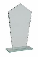 20cm Scalloped 4mm Glass Plaque in Plain Box