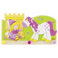 Princess and unicorn children's coat hook