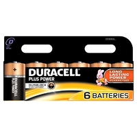 Duracell Plus MN1300 D Battery 6pk