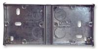 2 x 1 Gang 25mm deep Dual Flush Back Box
