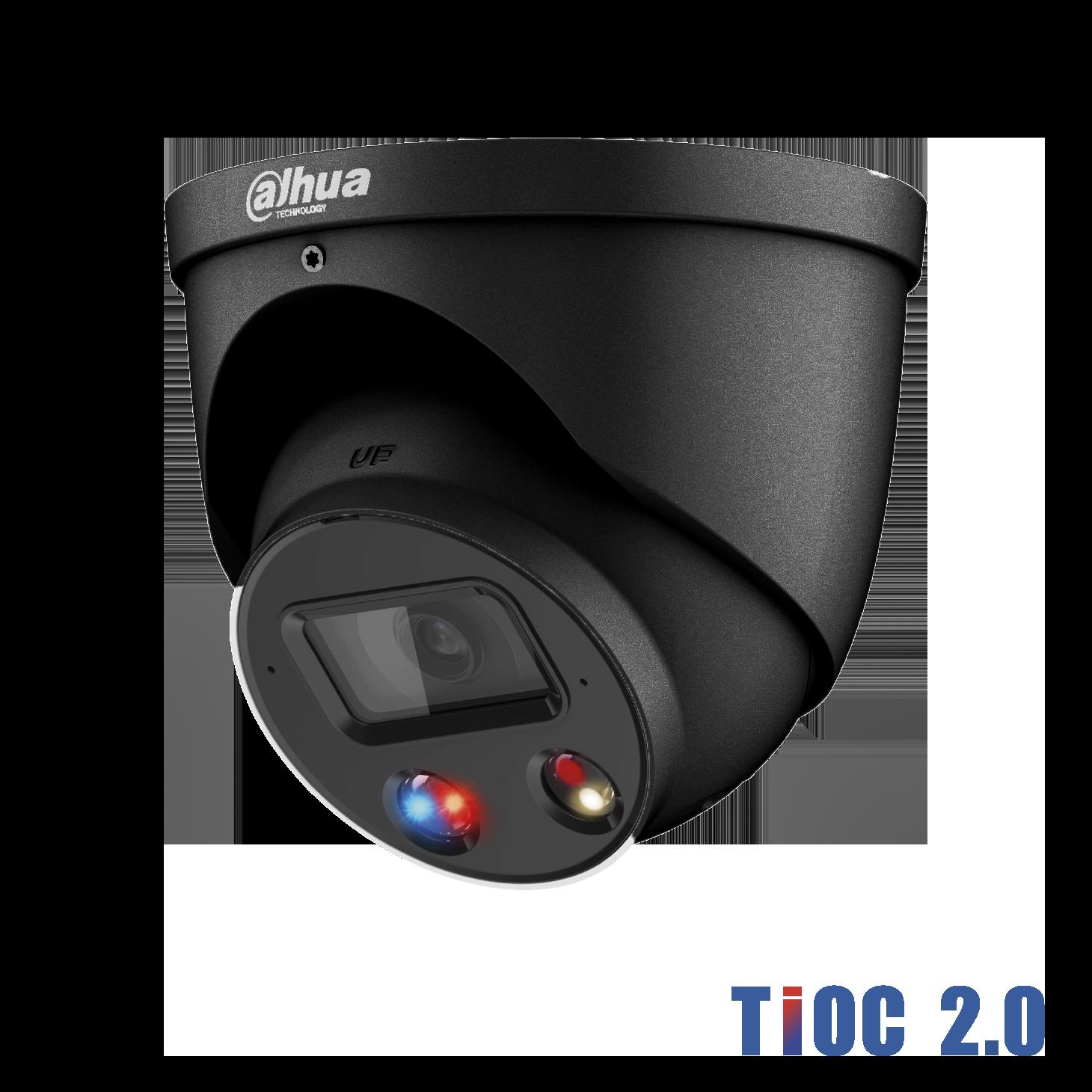 Dahua IP 8MP TiOC 2.0 Dome 2.8mm Black Dual Illumination 30mtr