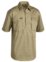 Bisley Cotton Drill Short Sleeve Closed Front Shirt 190gsm