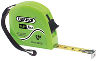Draper Easy Find Measuring Tape, 3M/10FT