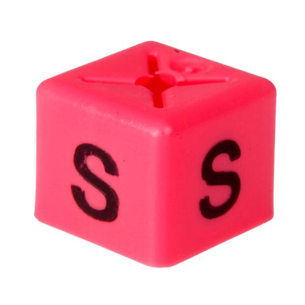 SHOPWORX CUBEX 'Size S' Size cubes - Pink (Pack 50)