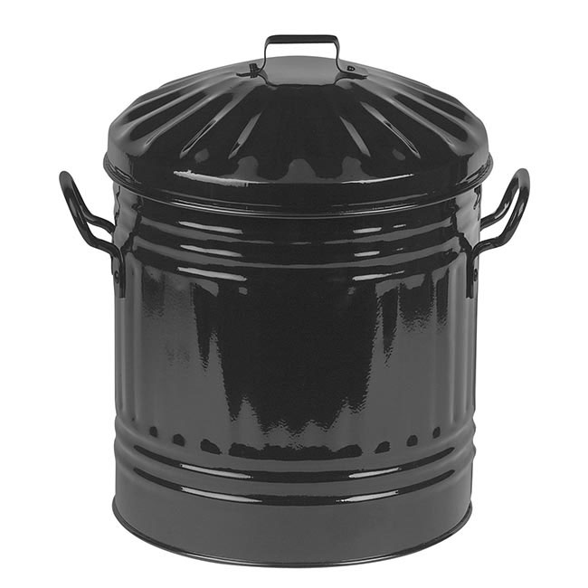 0e87b59b4e33d Coloured Metal Mini Bin Black - Wilsons - Import